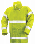 High-Visibility Jacket, Lime Yellow PVC On Polyester, Large