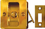 Pocket Door Lock Latch, Brass