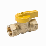 Gas Ball Valve, Lever Handle, Brass, 3/4-In.