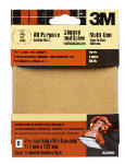 5-Pk., 4.5 x 4.5-In. Medium Palm Sander Sheets