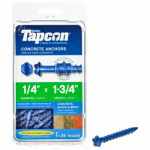 Tapcon 1/4 x 1-3/4-Inch Hex-Washer-Head Concrete Anchors, 25-Pack
