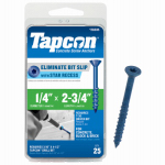 Tapcon 1/4 x 2-3/4-Inch Phillips Flat-Head Concrete Anchors, 25-Pack