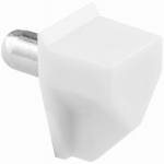Shelf Support Peg, White Plastic, 5mm-Dia., 8-Pk., Must Purchase in Quantities of 6