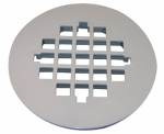Snap-In Style Shower Drain Grate, White, Plastic