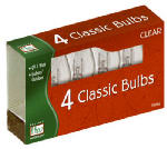 Christmas Lights Replacement Bulb, C9, Clear, 4-Pk.