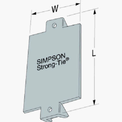 Simpson Strong Tie Nail Stop 1 1 2 X 3 In Ns1