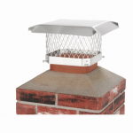 Chimney Cap, Single Flue, Stainless Steel, 9 x 9-In.