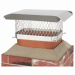 Chimney Cap, Single Flue, Stainless Steel, 9 x 13-In.