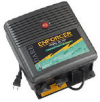 Electric Fence Charger, 75-Acre, Low Impedance, Plug-In, 110-Volt