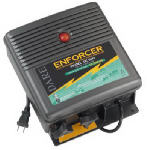 Electric Fence Charger, 150-Acre, Low Impedance, Plug-In, 110-Volt