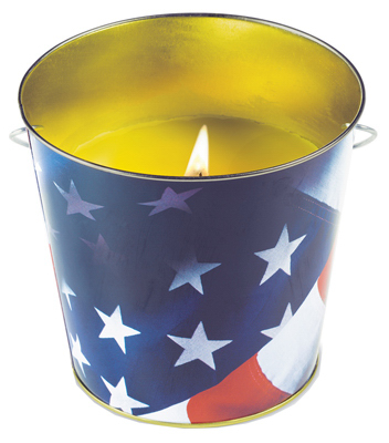 16OZ MTL Flag Bucket