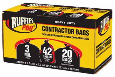 20PK 42GAL BLK Cont Bag - Woods Hardware