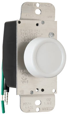 600W WHT SP Rot Dimmer - Woods Hardware