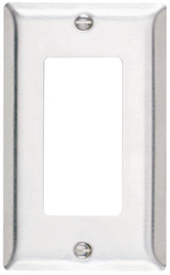 1G SS Decor Wall Plate - Woods Hardware
