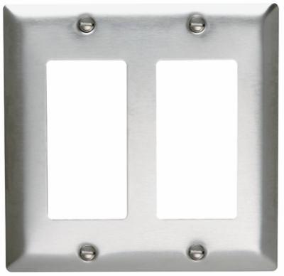 2G SS Decor Wall Plate