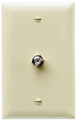 IVY 1G Coax Wall Plate - Woods Hardware