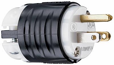15A 2Pole HD Plug - Woods Hardware