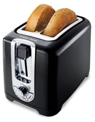 B&D 2 Slice BLK Toaster