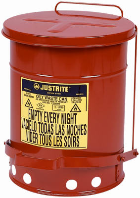 6GAL RED Oily Waste Can