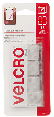 "7/8"" CLR Velcro Squares"