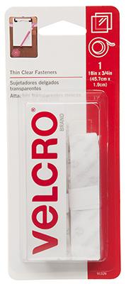 18x3/4 CLR Velcro Tape