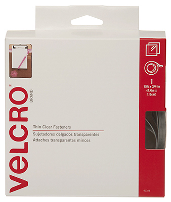15x3/4 CLR Velcro Tape