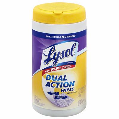 28CT Lysol DualAct Wipe