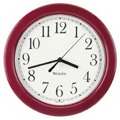 "8.5""BURG RND Wall Clock"