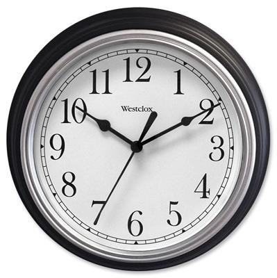 "8.5"" BLK RND Wall Clock"