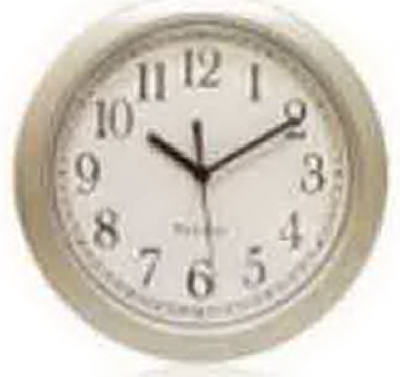 "8.5""SLV RND Wall Clock"