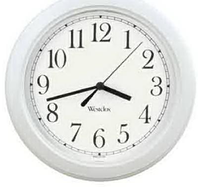 """8.5""""WHT RND Wall Clock"""