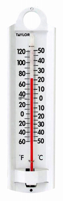 """8-7/8"""" ALU Thermometer"" - Woods Hardware"