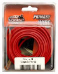 SOUTHWIRE COMPANY LLC 55668033 24', Red, 16 Gauge, Primary Wire, Carded.<br><br><strong>Prop65Warning:</strong><br>This product contains material