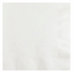 CREATIVE CONVERTING 139140154 50 Count, 2 Ply, White, Beverage Napkin.<br>Made in: US