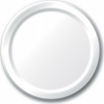 """24CT 9"""" WHT Paper Plate"""