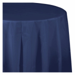 "CREATIVE CONVERTING 010140LX 54"" x 108"", Navy Plastic Table Cover, Covers An 8'"