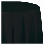 "CREATIVE CONVERTING 703260 54"" x 108"", Black, Plastic Table Cover, Covers An 8'"