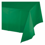 "CREATIVE CONVERTING 01191 54"" x 108"", Emerald Green, Plastic Table Cover, Covers An"