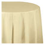"CREATIVE CONVERTING 703264 54"" x 108"", Ivory, Plastic Table Cover, Covers An 8'"