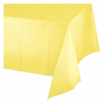 "CREATIVE CONVERTING 01252 54"" x 108"", Mimosa Pastel Yellow, Plastic Table Cover, Covers"