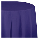 "CREATIVE CONVERTING 703268 54"" x 108"", Purple Plastic Table Cover, Covers An 8'"