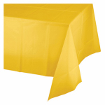 "CREATIVE CONVERTING 011012 54"" x 108"", School Bus Yellow, Plastic Table Cover, Covers"