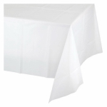 "CREATIVE CONVERTING 923272 54"" x 108"", White Plastic Table Cover, Covers An 8'"