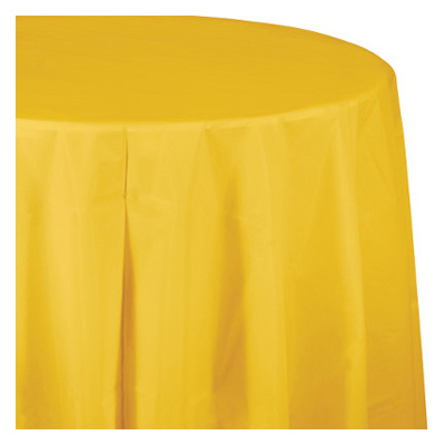 "82"" YEL RND Tablecover"