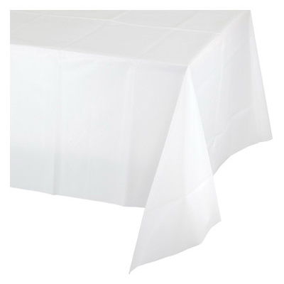 "82"" WHT RND Tablecover"