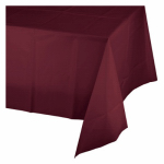 "CREATIVE CONVERTING 723122 54"" x 108"", Burgundy Plastic Table Cover, Covers An 8'"