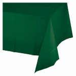 "CREATIVE CONVERTING 723124 54"" x 108"", Hunter Green Plastic Table Cover, Covers An"