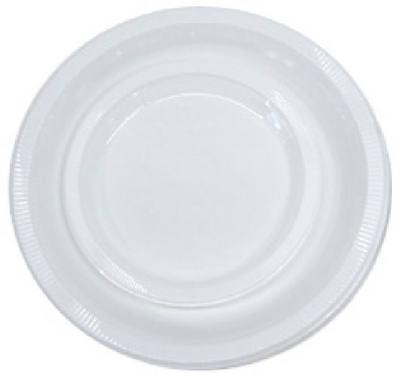 "20CT 7"" WHT Plas Plate"