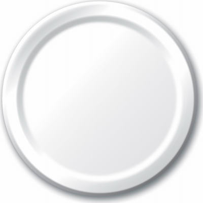 """24CT 10""""WHT Paper Plate"""
