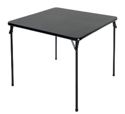 "34""SQ BLK Fold Table"